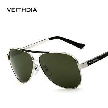 VEITHDIA With Original Case Polarized Sunglasses Men Brand Designer Sun Glasses UV 400 Lens gafas oculos de sol masculino 3152 - Category 🛒 Apparel Accessories