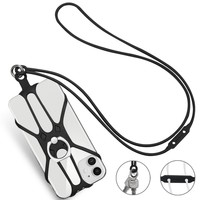 Sweet Colorful Silicone Phone Lanyard Holder With 360 degree Rotation Ring Kickstand Smartphone Neck Strap