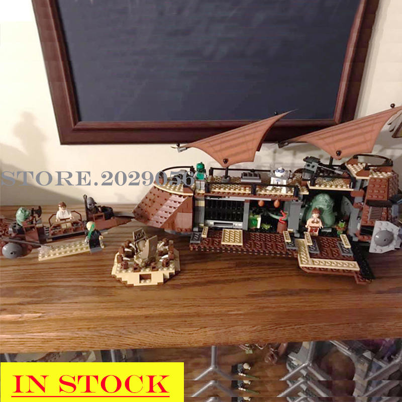 In Stock 05090 Star Wars The Jabba`s Sail Barge Sailing Ship 821Pcs Ship-styling Building Blocks Compatible With 6210 Toys Kids
