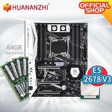 цена на HUANANZHI X99-TF Motherboard with Intel XEON E5 2678V3 with 4*16G DDR4 RECC memory NVME USB3.0 ATX Server