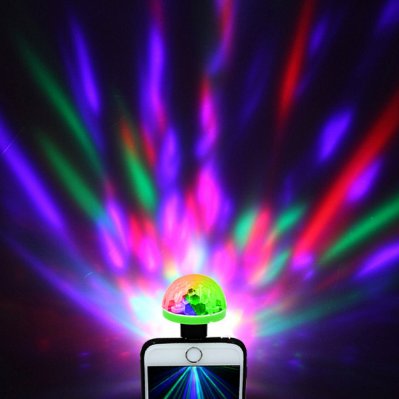 Mini USB Phone LED Disco Stage Light Sound Activated 3W Portable DJ Magic Ball Lamp For Christmas Home KTV Xmas Wedding Show D40