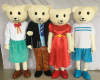 Lovey T shirt Teddy Bear Mascot Costumes Dresses Teddies Bear Babydoll Costumes Apparels Foam for Halloween Carival Party Event
