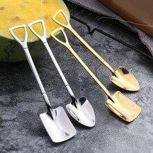 Gadget Shovel Spoon Tea Ice-Cream Coffee Kitchen Metal Stainless-Steel Retro Flat