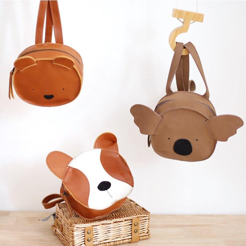 2019 yeni 3D hayvan çocuk sırt çantaları marka tasarım hakiki deri yumuşak bebek kız erkek sırt çantası Toddler çocuklar neopren okul çantası