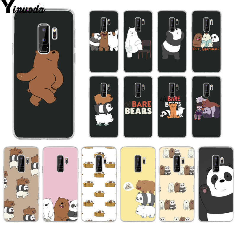 Yinuoda we bare bears miniso Newly Arrived Cell Phone Case for Samsung S9 S9 plus S10 S6 S6edge S10plus S7 S7edge S8 S8plus