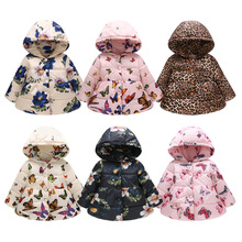 лучшая цена Baby Girls Jacket 2019 Autumn Winter Jackets For Girls Trench Coat Kids Outerwear Coats For Girls Windbreaker Children Clothes
