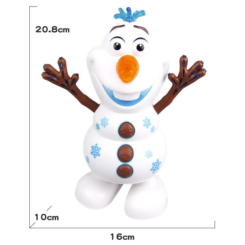 2020 New Disney Frozen 2 Elsa Dancing Olaf Music Toys Kawaii Light Electric Cartoon Snowman Doll Kids Christmas Birthday Gift