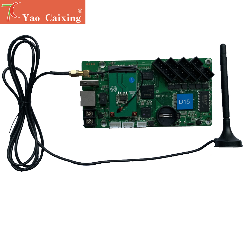 HD-D15 controller with wifi rj45 usb asynchronous <font><b>control</b></font> <font><b>card</b></font> p2 p2.5 p3 p4 p5 p6 p8 <font><b>p10</b></font> rgb full color dot matrix <font><b>led</b></font> screen image