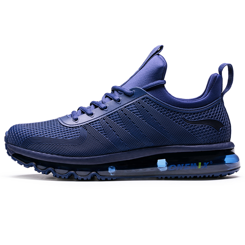 ONEMIX High Top Men Running Shoes Outdoor Chaussure Homme Blue Sports Athletic Sneaker All-match Sneaker For Man Walking Jogging