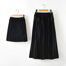 Mother And Me Matching Clothes Mom Girls Long Pleated Tutu Skirt Solid Ruffle New Autumn Kids Skirts Children Pettiskirt