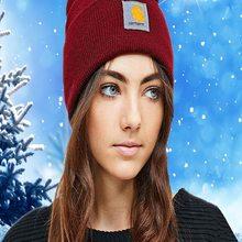 Hat Warm-Hats Streetwear New Fashion Banner Hip-Hop Knitted Female Tide Winter Muti-Color