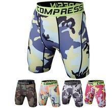 Компрессионные шорты для бега мужские камуфляжные трико бодибилдинга