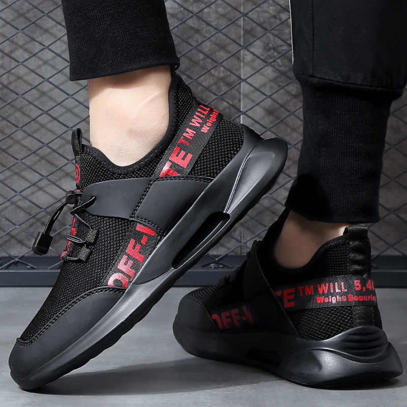 2019 Winter Casual Men Athletic Shoes Trend Pure Black Mesh Dad Shoes Men's New Style Fashion plus Velvet MEN'S SHOES