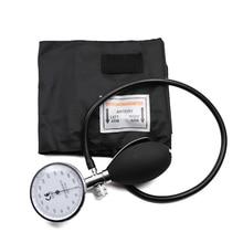Esfigmomanómetro con medidor de presión, brazalete de presión arterial médico clásico negro, para brazo BP, esfigmomanómetro aneroide de tubo único con medidor de presión de calibre