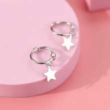 Minimalist clip Earrings for Women  S925 Silver Fashion Star Simple Cute Mini Earring Piercing Jewelry Gift