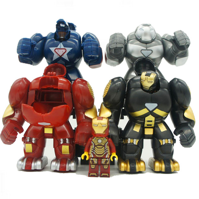 Enlighten ML-K44 Super Heroes Iron Man Hulkbusters Model Building Blocks Brick Compatible Legoe Playmobil Toys For Children
