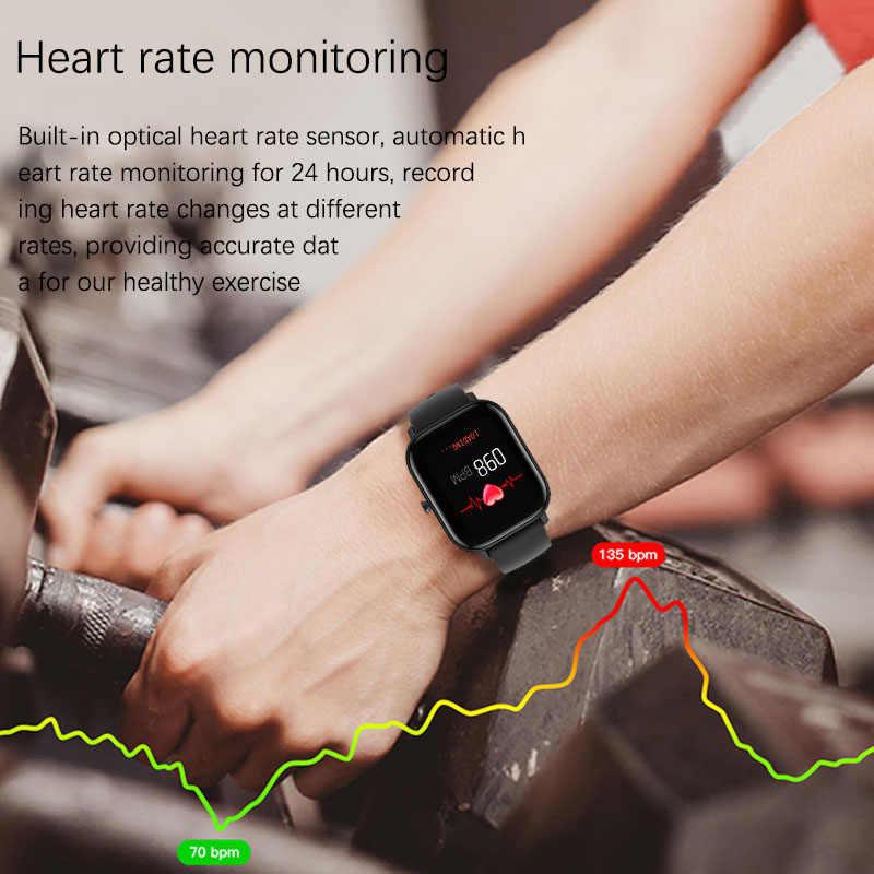 LIGE di Modo Astuto Della Vigilanza Per Le Donne Degli Uomini IPX7 Impermeabile Inseguitore di Fitness LED Dello Schermo Full Touch Monitor di Frequenza Cardiaca Sport smartwatch