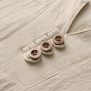 Image 4 - autumn Chinese style T shirt long sleeve Men plus size vintage Tang suit tees oversize linen cotton 8XL 9XL home loose underwear