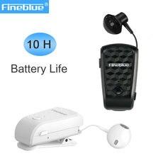 Fineblue fq10 pro retrátil sem fio bluetooth fones de ouvido handsfree portátil fone de ouvido usar clipe de 10 horas telefone chamada