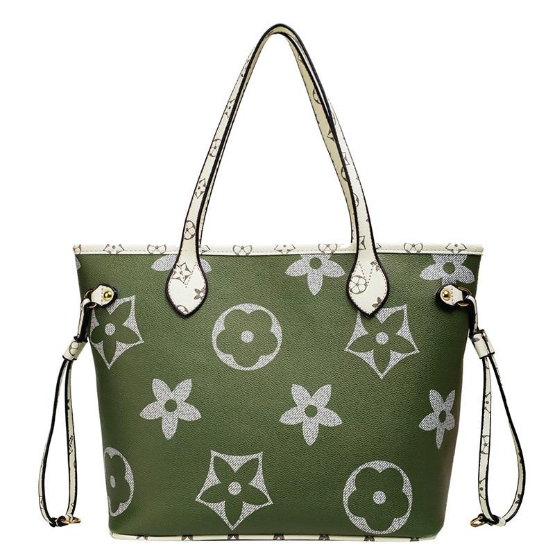 Women Evening Luxury Brand Handbag Lady Vintage Fashion Handbag Retro Shoulder Bags With Printed Flower Sac De Luxe Femme Marque