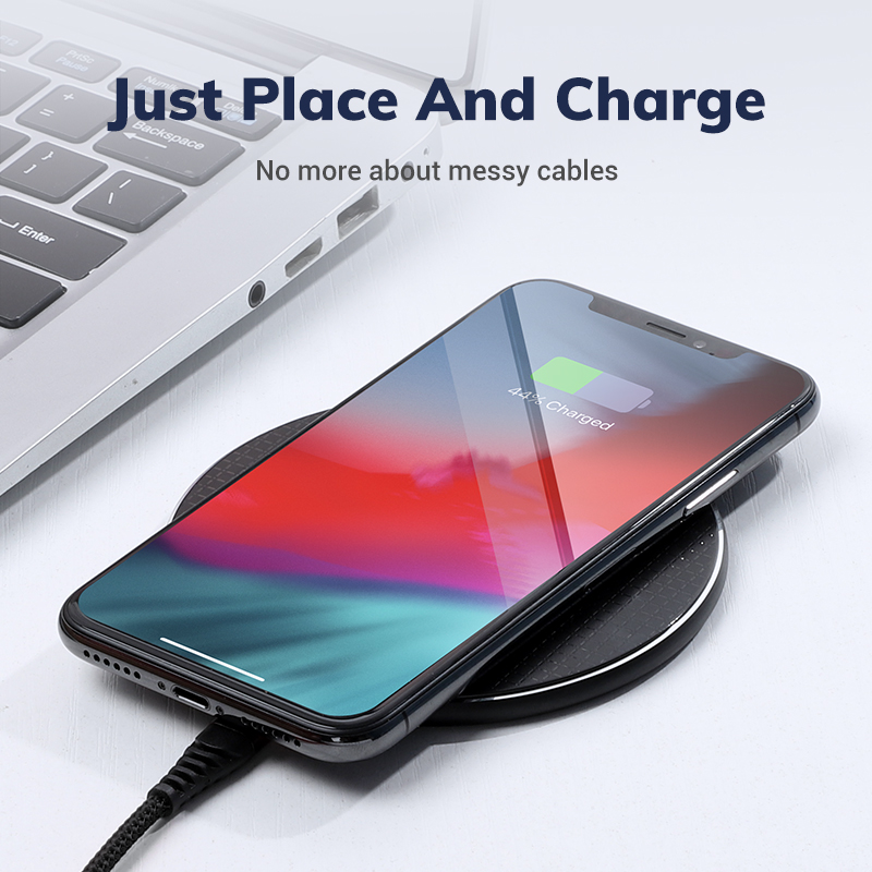 Image 4 - 10W Qi Wireless Charger for iPhone 11 Pro X/XS Max XR 8 Plus Visible Element Wireless Charging pad for Samsung S9 S10+ Note 9 10-in Wireless Chargers from Cellphones & Telecommunications