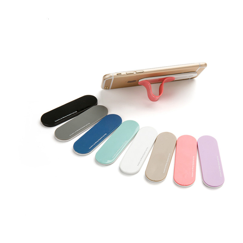 Colorful Silicone Wristband Finger Ring Grip Mobile Phone Holder Stand Pull Sticker Paste Universal Hand Band Cat Phone Holder