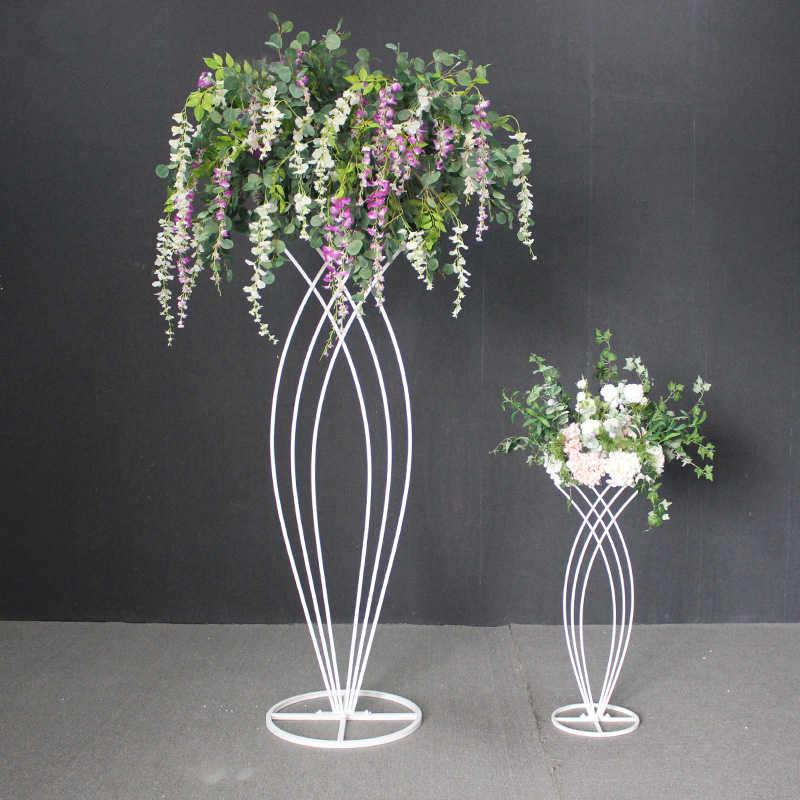 2pcs ใหม่งานแต่งงาน wrought iron ถนน mermaid ดอกไม้อุปกรณ์ stage party จัดเลี้ยงกลางแจ้งตกแต่งดอกไม้ปลอมเครื่องประดับ