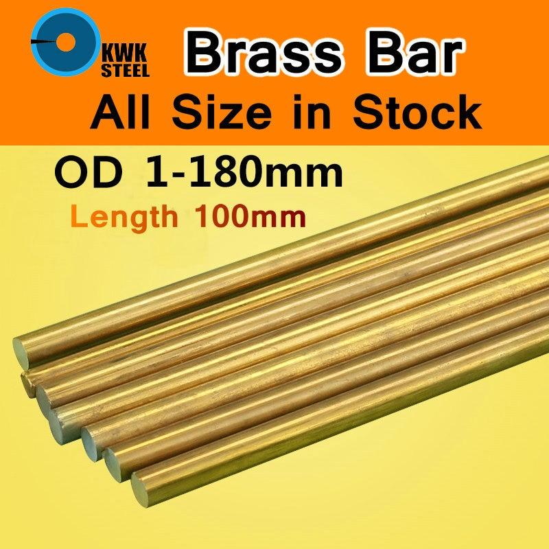 Brass Bar Round Grade Of ASTM C28000 CuZn40 CZ109 C2800 H59 H62 Bars Shaft Stick Cu DIY Material CNC Mould Machine 100mm Length