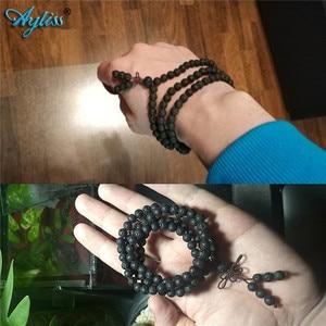 Image 5 - Ayliss Drop Schiff Lava Stein Diffusor Armbänder 108 Perlen Reiki Healing Balance Buddha Gebet Männer Frauen Armband Halskette Schmuck