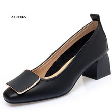 Promotion 2021 New Fashion Spring Women High Heel Shoes Office Banquet Genuine Leather Shoes Large Size Black Beige Camel Colors
