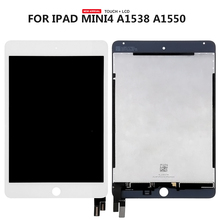 цена на Top Quality For ipad mini 4 LCD Display Screen Touch Panel Glass Assembly Replacement Free Tools 100% Tested