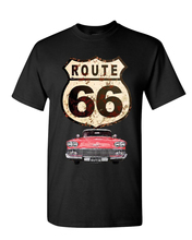 Route 66 Retro Car T-Shirt The Mother Road American Classic Mens Tee Shirt Cartoon t shirt men Unisex New Fashion tshirt sbz1022