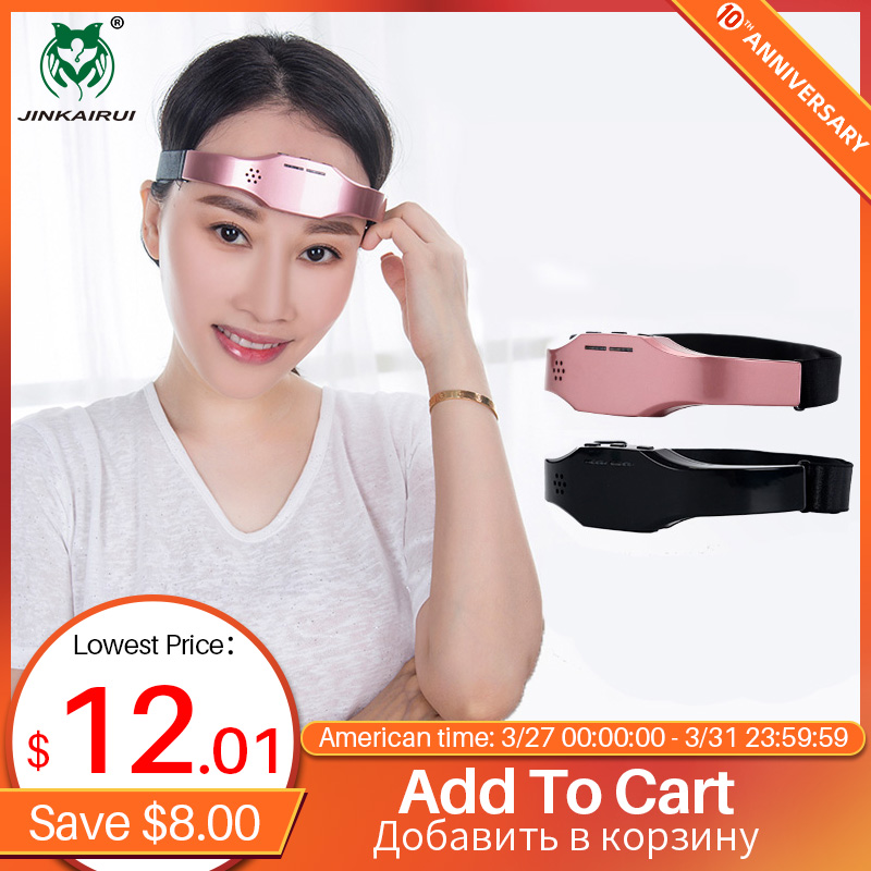 Jinkairui Promote Sleep Massager Migraine Relief Low Frequency Pulse Release Stress Anxiety Insomnia Gift Lightweight