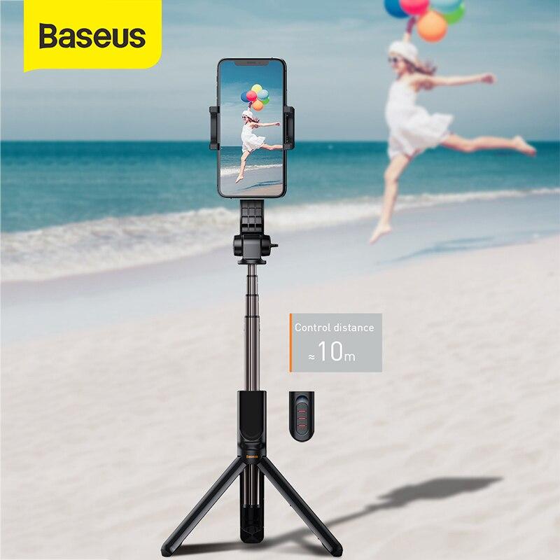 Baseus Bluetooth Selfie Stick Mini Kamera Video Stativ Drahtlose Einbeinstativ Balance Griff Sport Kamera für iPhone IOS Android