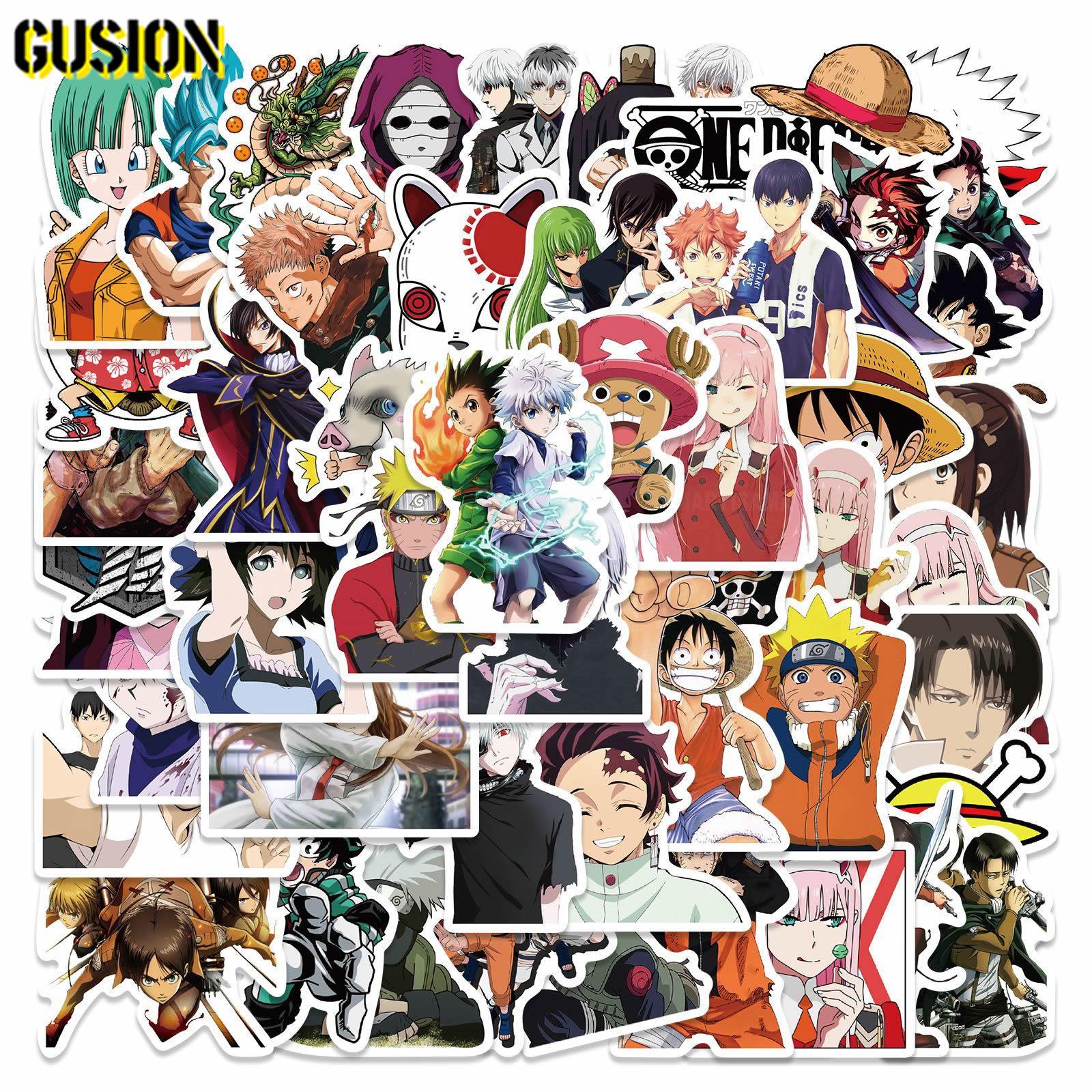 10/50pcs Classic Japan Anime mix Stickers Cartoon Waterproof Skateboard Guitar Luggage Laptop Bicycle Funny Sticker Kids Toys