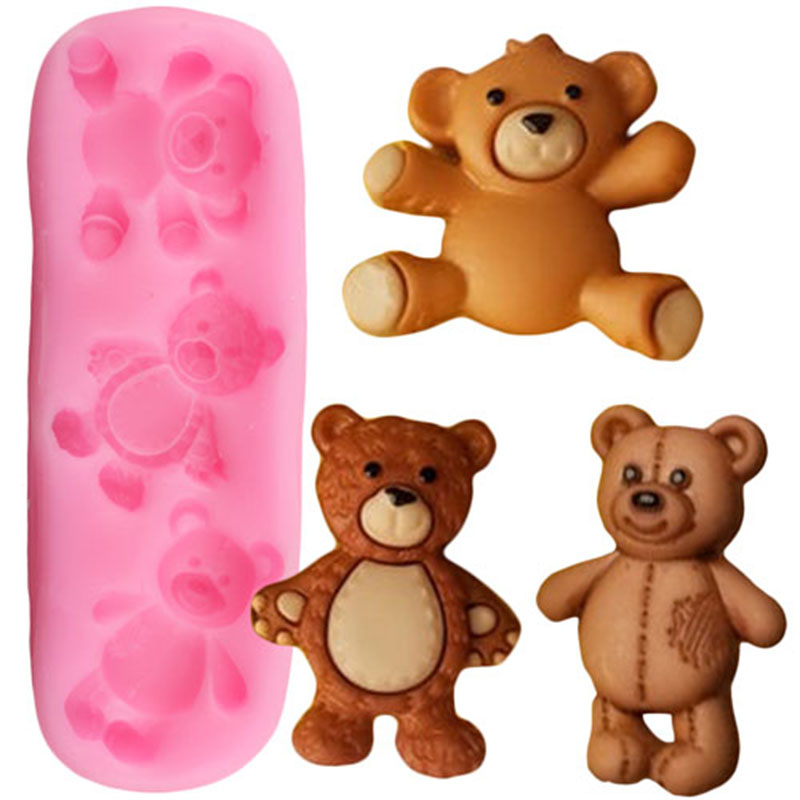 Teddy bear silicone mold fondant cake mold chocolate mould Gum paste mould Clay Resin