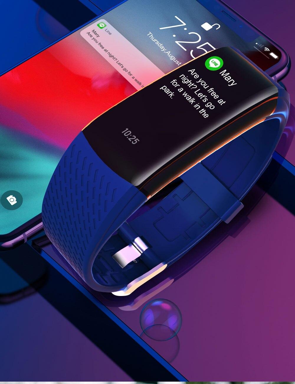 He8ae29da679e4f7baa765357abfce8efu Smart Fitness Bracelet Blood Pressure Measurement Fitness Tracker Waterproof Smart Band Watch Heart Rate Tracker For Women Men