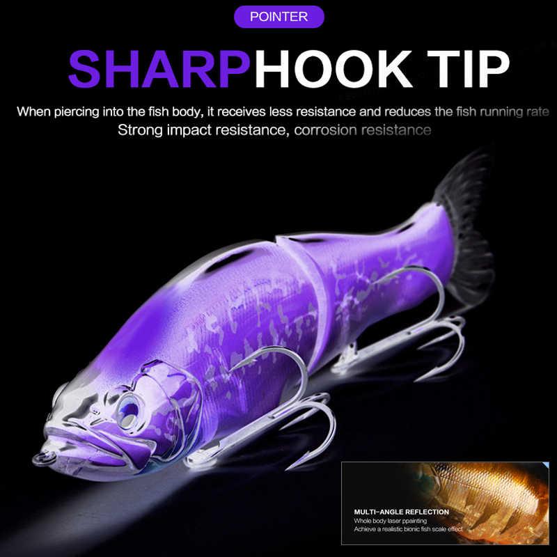 BEARKING Topเหยื่อตกปลา135Mm 1Oz Jointed Minnow Wobblers ABS Bodyนุ่มหางSwimBaits LureสำหรับpikeและBass