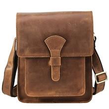 Crossbody Bags for Men Genuine Leather Handbag High Quality Shoulder Bag Male Business Briefcase Vintage Messenger Travel Casual стоимость