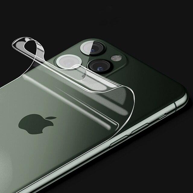 1 3 adet 20D arka ekran koruyucu için iPhone 11 Pro X XR XS Max hidrojel TPU Apple 6S 7 8 artı 6P 7P 8 P arka folyo filmi