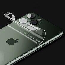 1 3 pièces 20D protecteur décran arrière pour iPhone 11 Pro X XR XS Max Hydrogel TPU pour Apple 6S 7 8 Plus 6P 7P 8 P Film arrière