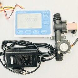 US211M czytnik przepływu kontrolera dozowania i USN-HS21TX zintegrowany efekt halla czujnik przepływu wody z zaworem elektromagnetycznym