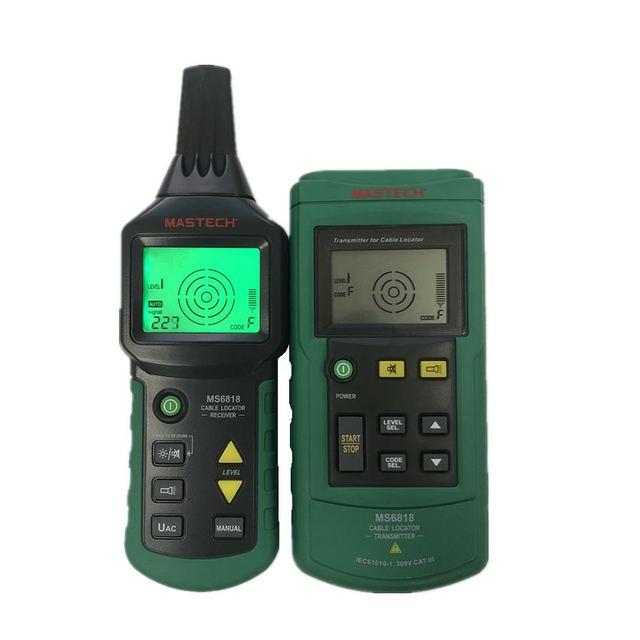 جهاز اختبار كابل الأسلاك الاحترافي المحمول Mastech MS6818 جهاز فحص محدد موقع الأنابيب المعدنية جهاز تعقب الخط Voltage12 ~ 400 فولت
