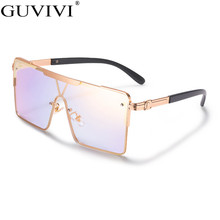 Luxury Brand Square Sunglasses Women 2020 One Piece Oversized Sunglasses Men Small Glasses Ladies Vintage Sunglasses Retro