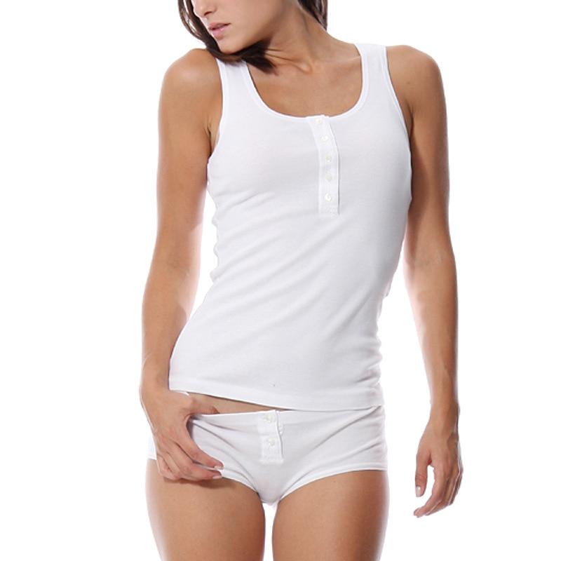 Women's Vest Low Waist Boxer Knicker Two Piece Set Pajamas Modal Simple Natural Home Underwear Suit