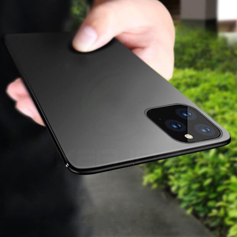 Caso para iPhone 11 Keajor Max Pro Caso Ultrafino Macio Matte TPU Silicone Bumper Case Capa Para iPhone 11 telefone Pro fundas