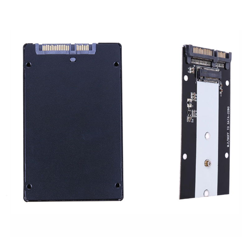 7mm Thickness Metal B Key M.2 NGFF To SATA 3 Adapter Card M.2/NGFF SSD To 2.5inch SATA Adaptor SSD Case For 2280 2260 2242 M2