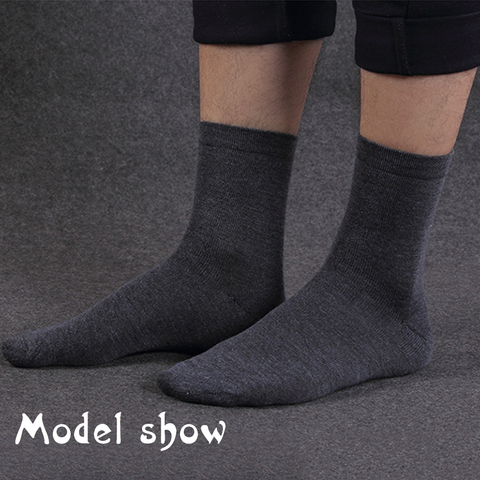 MWZHH 10 Pairs Men Cotton Socks Men Brand New Business Leisure Dress Socks Male 100 Cotton Socks Long Warm Socks Black For gifts Karachi
