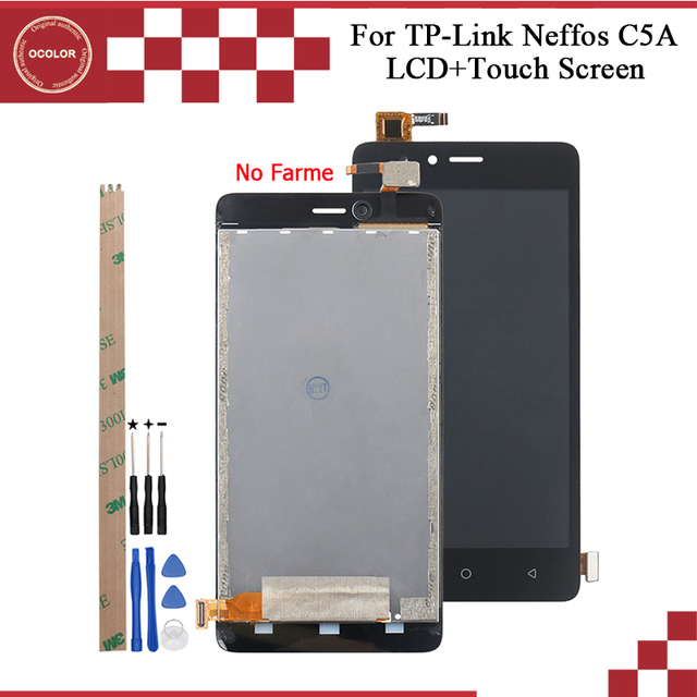 ocolor For TP Link Neffos C5A TP703A LCD Display And Touch Screen Assembly 5.0 For TP Link Neffos C7A  Screen +Tools