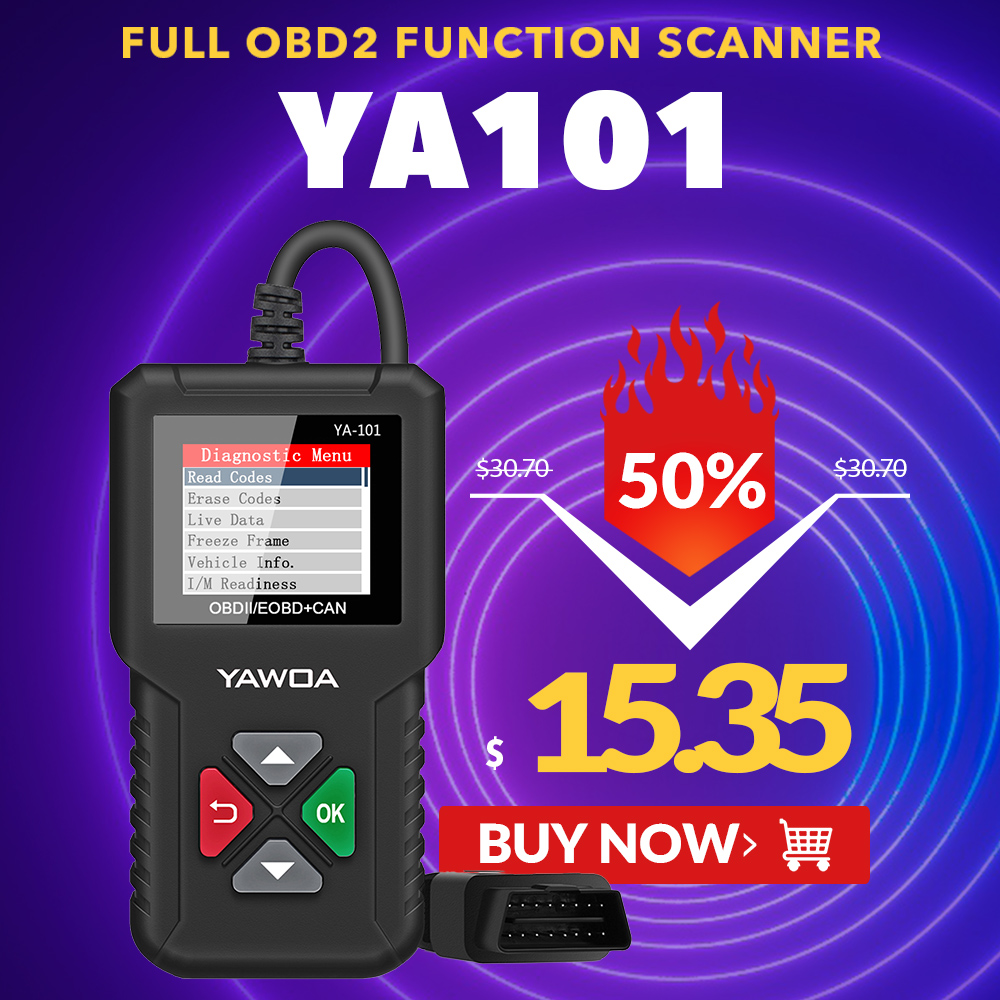Original EDIAG YAWOA YA101 Code Reader OBDII/EOBD YA-101 Upgrade With USB Life Long Enhanced OBDII Scanner PK CR3001 CR319 AD310